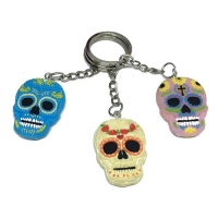 PVC Skull pendant key chain怪促销玩具