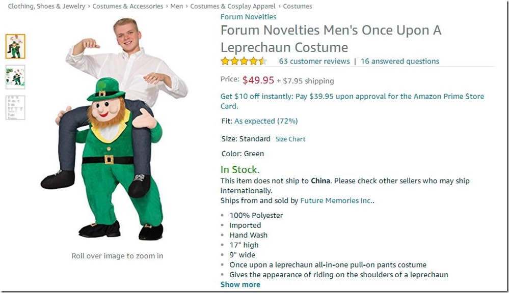Men's Once Upon A Leprechaun Costume