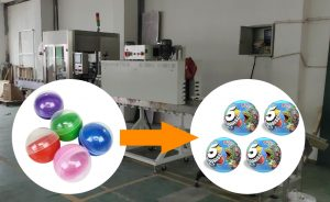 How Capsule Toys packed by shrink wrapping machine?
