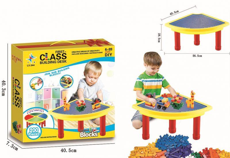 Class Building Desk with blocks