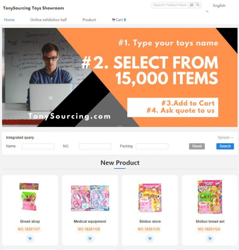TonySourcing online toys