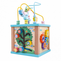 wooden bead maze toy