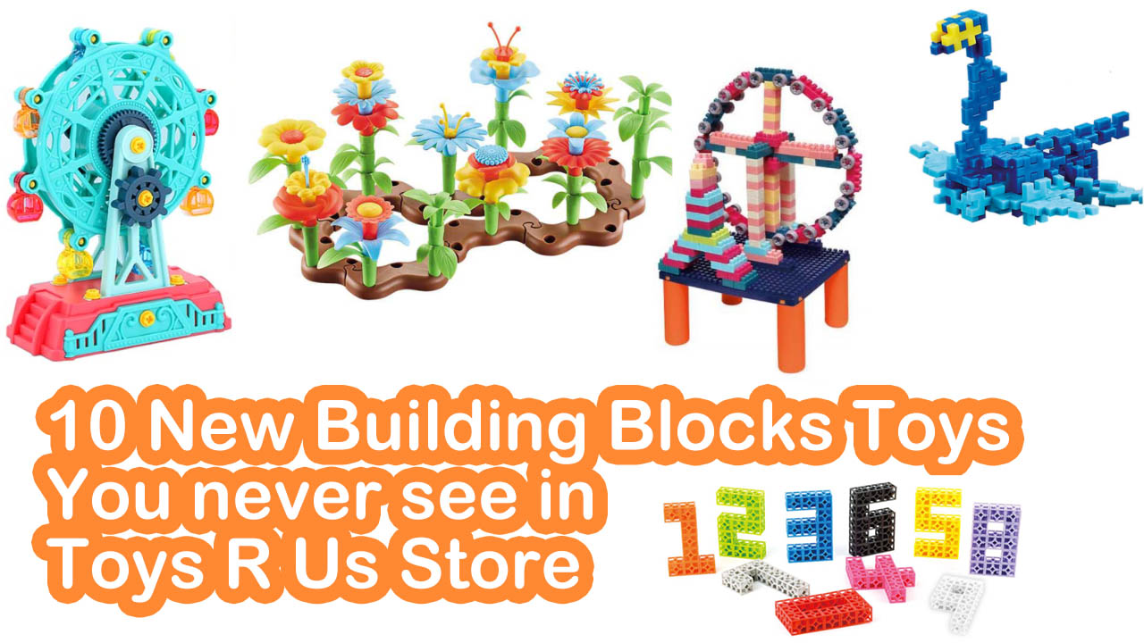 10 Toy Building Blocks Plastic| Never Saw in Toys R Us Store